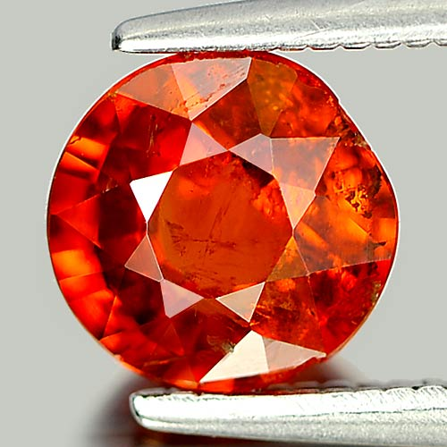 1.60 Ct. Round Natural Orange Red Spessartine Garnet