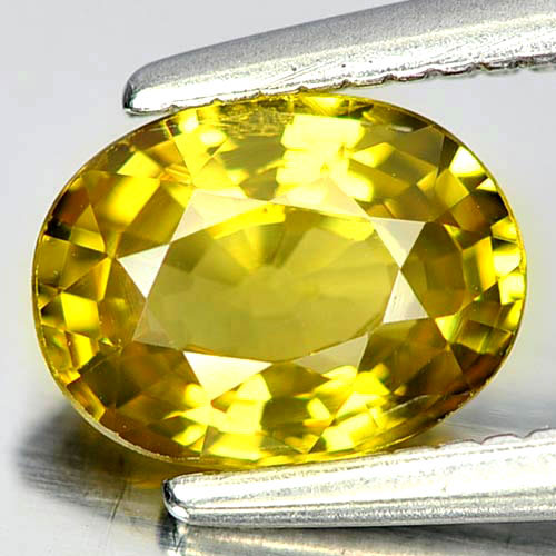 0.95 Ct. Oval Natural Gem Yellownish Green Mali Garnet