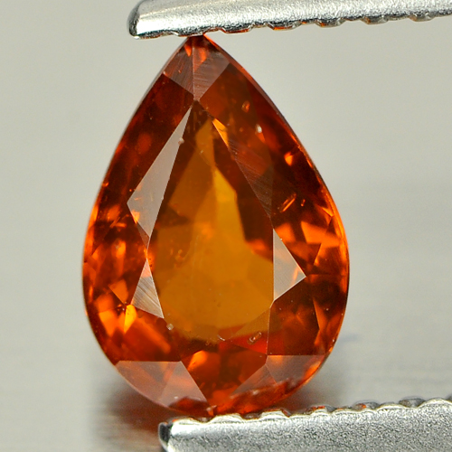 0.82 Ct. Pear Natural Orange Spessartine Garnet Gem Namibia