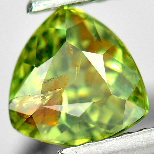 1.25 Ct. Trilliant Shape Natural Green Demantoid Garnet