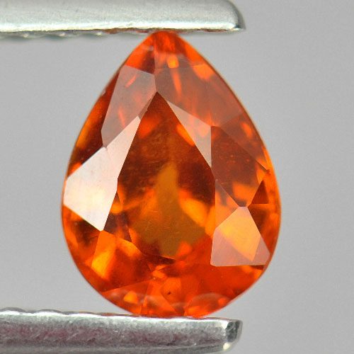 0.92 Ct. Pear Shape Natural Orange Spessartine Garnet