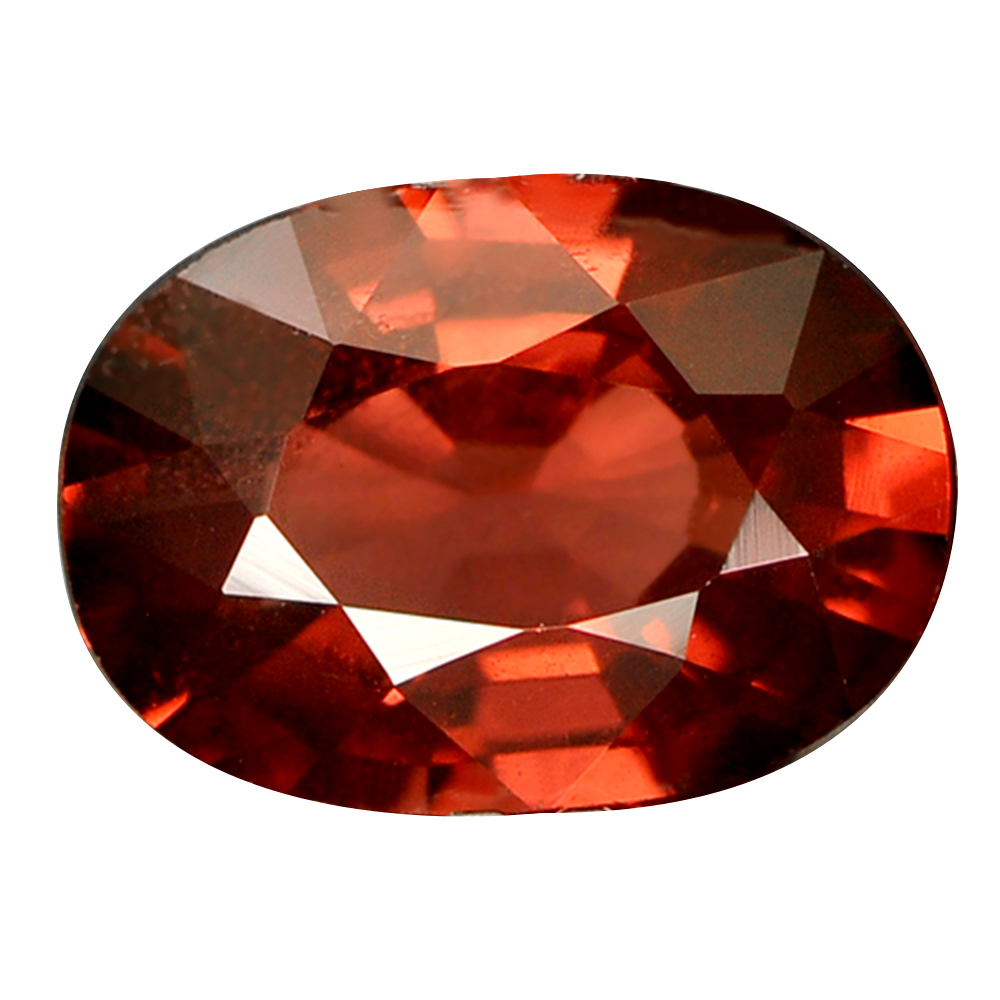 0.87 Ct. Oval Natural Orangish Red Rhodolite Garnet Gem