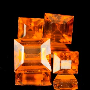 2.27 Ct. 4 Pcs. Natural Orange Spessartine Garnet Gems