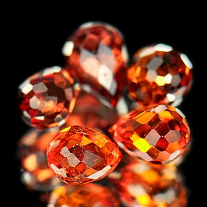 2.59 Ct. 5 Pcs. Natural Reddish Orange Spessartine Garnet