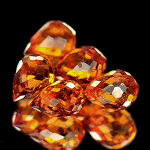 2.14 Ct. 5 Pcs. Natural Reddish Orange Spessartine Garnet