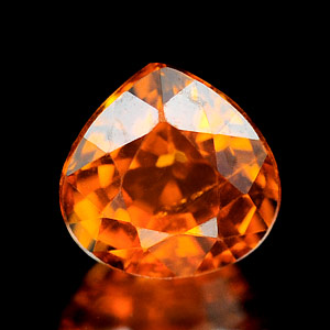 0.76 Ct. Pear Natural Orange Spessartine Garnet Gem