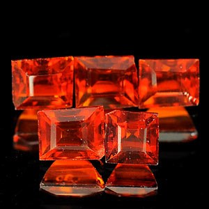 2.89 Ct 5 Pcs Natural Reddish Orange Spessartine Garnet