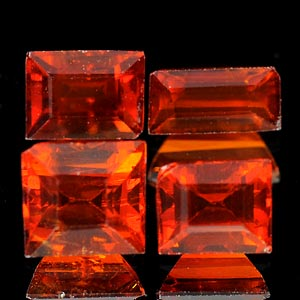 2.91 Ct 4 Pcs Natural Reddish Orange Spessartine Garnet