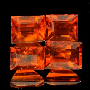 2.48Ct 4 Pcs Natural Reddish Orange Spessartine Garnet