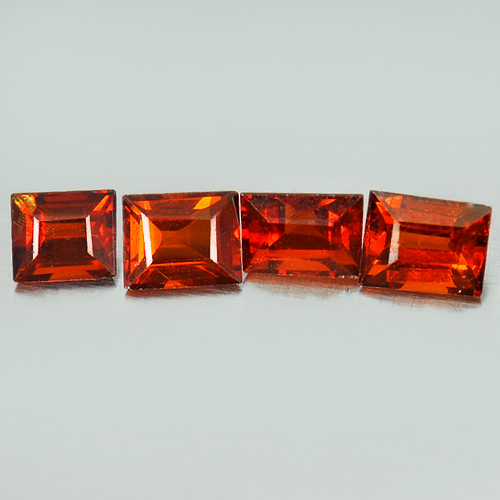 2.80 Ct 4 Pcs Natural Reddish Orange Spessartine Garnet