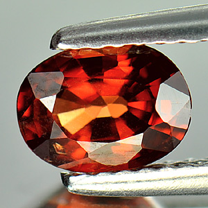 0.95 Ct Oval Natural Gem Orangish Red Rhodolite Garnet