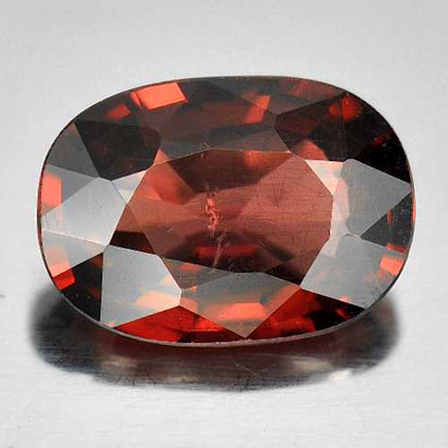 0.94 Ct Oval Natural Purplish Pink Rhodolite Garnet Gem