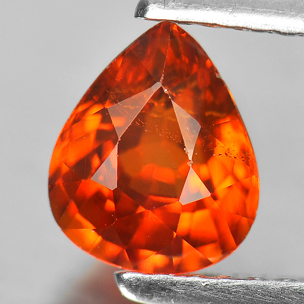 Good Gemstone 1.38 Ct. Pear Shape Natural Orange Spessartine Garnet Unheated
