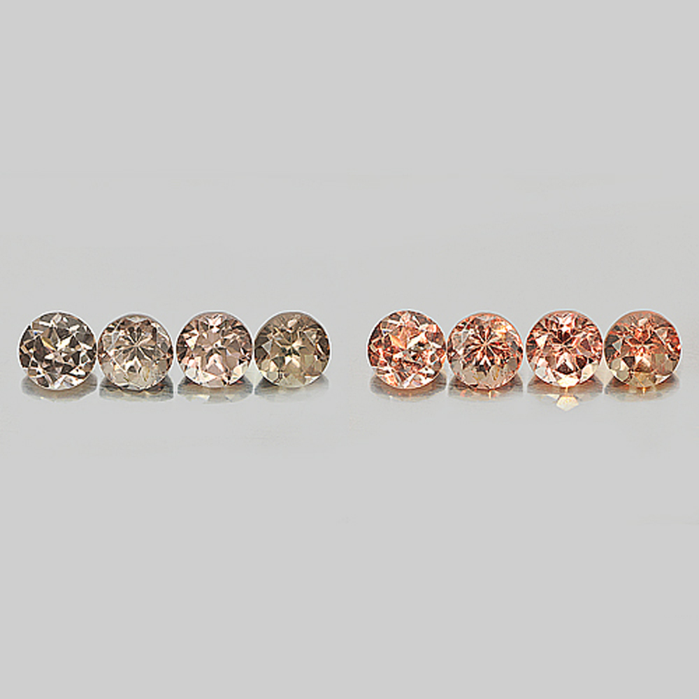 1.69 Ct. 4 Pcs. 4 Mm. Natural Color Change Garnet Round Shape Unheated