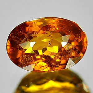 1.23 Ct. Natural Greenish Yellow Mali Garnet Gemstone Oval Cut Unheated