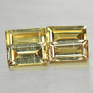 1.22 Ct. 4 Pcs. Ravishing Natural Gems Color Change Garnet Baguette Shape