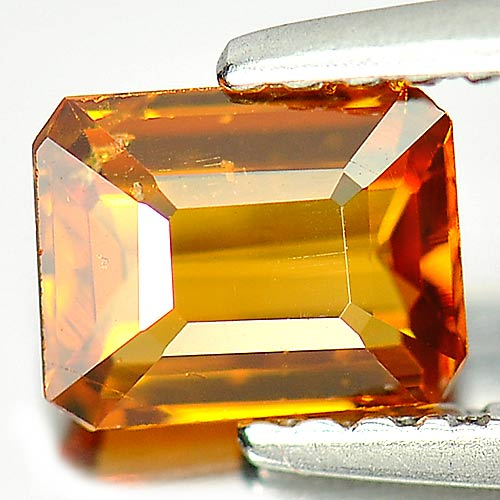 Unheated 0.81 Ct. Octagon Natural Gem Orange Hessonite Garnet