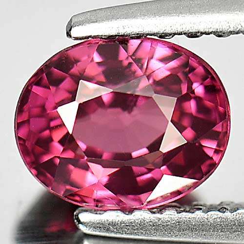 1.19 Ct. Oval Shape Natural Gem Purplish Pink Malaya Garnet Unheated