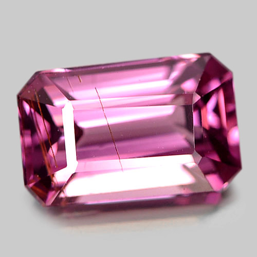 1.76 Ct. Delightful Octagon Natural Gem Purplish Pink Malaya Garnet Tanzania
