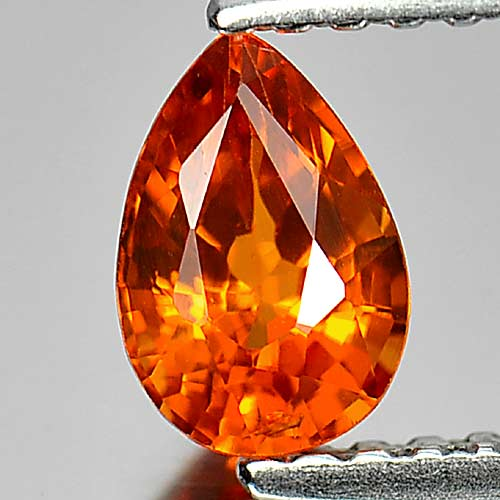 0.72 Ct. Nice Pear Natural Gem Orange Spessartine Garnet Namibia