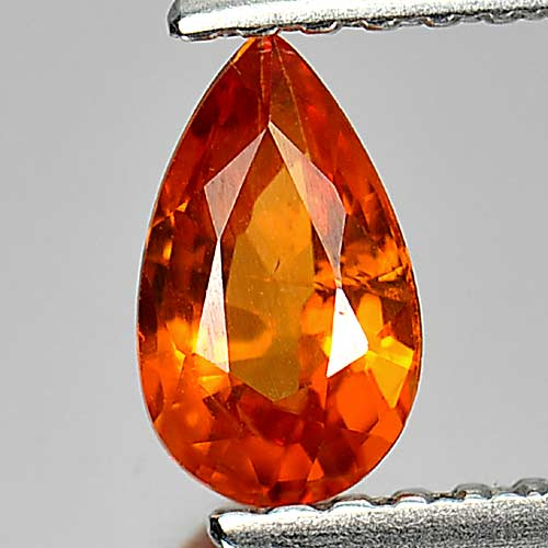 0.60 Ct. Attractive Pear Natural Gem Orange Spessartine Garnet Namibia