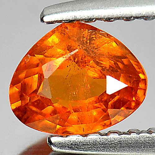 Calibrate Size 0.70 Ct. Pear Natural Gem Orange Spessartine Garnet Namibia
