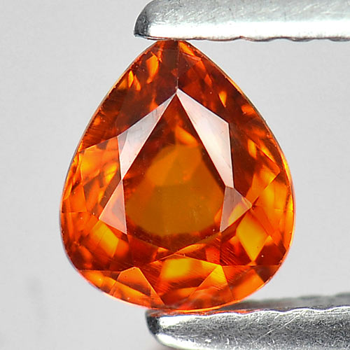0.88 Ct. Calibrate Size 6 x 5 Mm. Pear Natural Gem Orange Spessartine Garnet