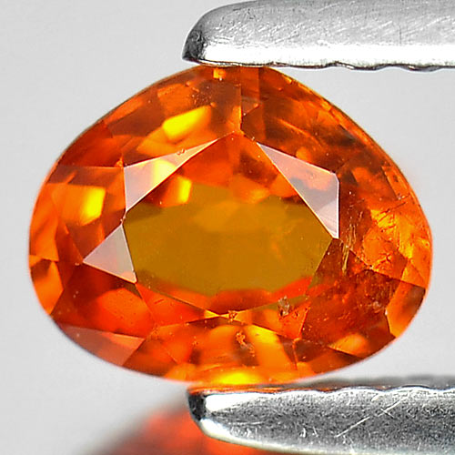0.73 Ct. Pear Natural Gem Orange Spessartine Garnet Size 6 x 5 Mm.