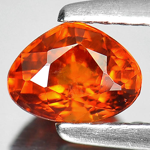 0.80 Ct. Beauteous Pear Natural Gem Orange Spessartine Garnet Namibia