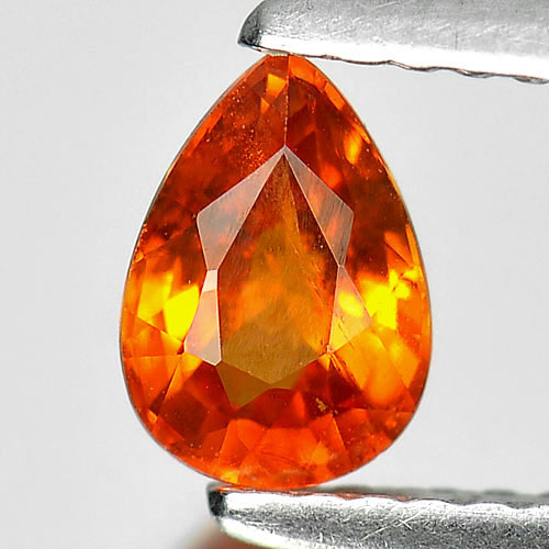 Alluring Gem 0.86 Ct. Pear Shape Natural Orange Spessartine Garnet