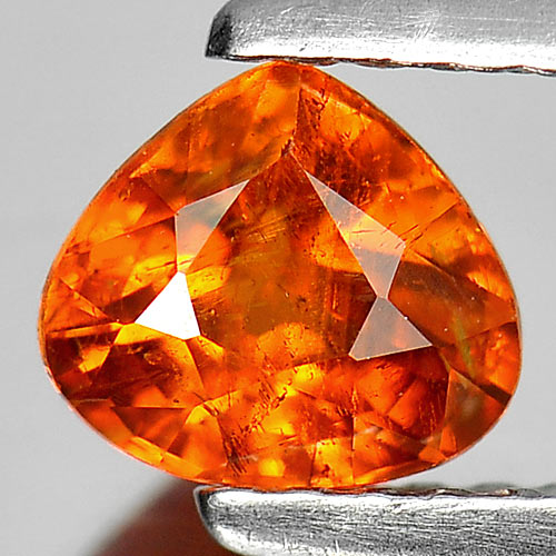 0.89 Ct. Good Cutting Pear Natural Gem Orange Spessartine Garnet