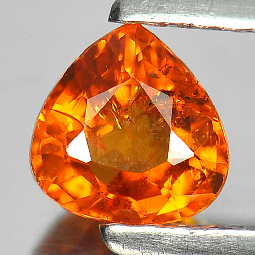 Charming Gem 0.73 Ct. Pear Shape Natural Orange Spessartine Garnet