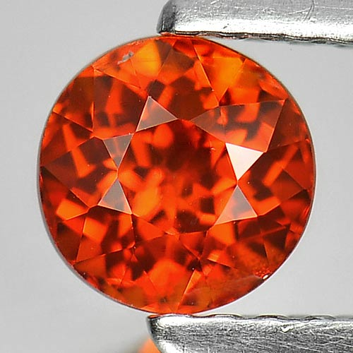 0.91 Ct. Attractive Round Natural Gem Orange Spessartine Garnet Namibia
