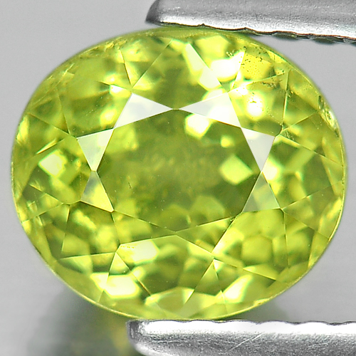 Unheated 1.75 Ct Oval Shape Natural Gemstone Yellow Green Mali Garnet Madagascar