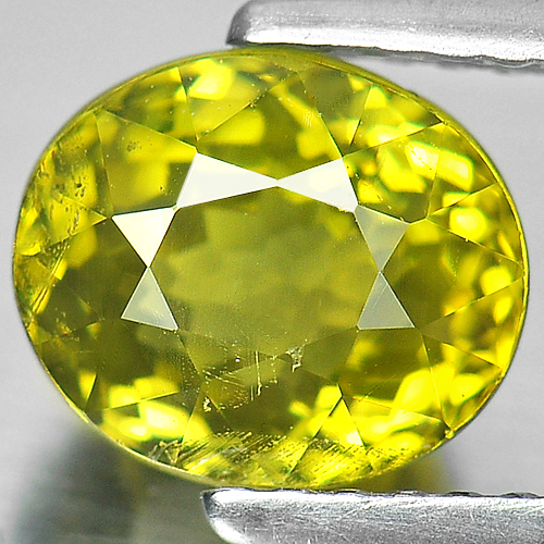 Unheated 2.55 Ct Oval Shape Natural Gemstone Yellow Green Mali Garnet Madagascar