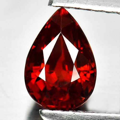1.27 Ct. Pear Shape Natural Gemstone Orange Red Spessartine Garnet From Nigeria