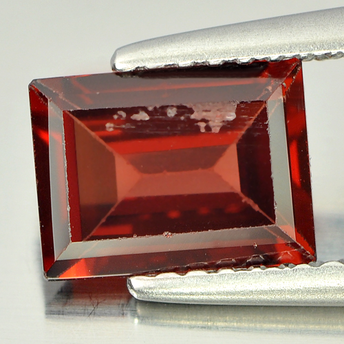 1.51 Ct. Nice Color Unheated Baguette Shape Natural Gem Red Garnet Tanzania