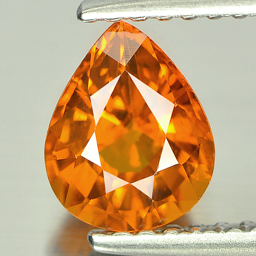 1.25 Ct. Charming Pear Natural Gem Orange Spessartine Garnet Namibia