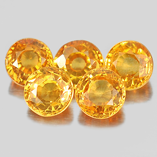 1.47 Ct. 5 Pcs. Round Shape 3.6 Mm. Gems Natural Orange Spessartine Garnet