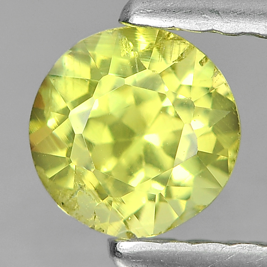 0.63 Ct. Lovely Round Shape Natural Greenish Yellow Mali Garnet From Madagascar