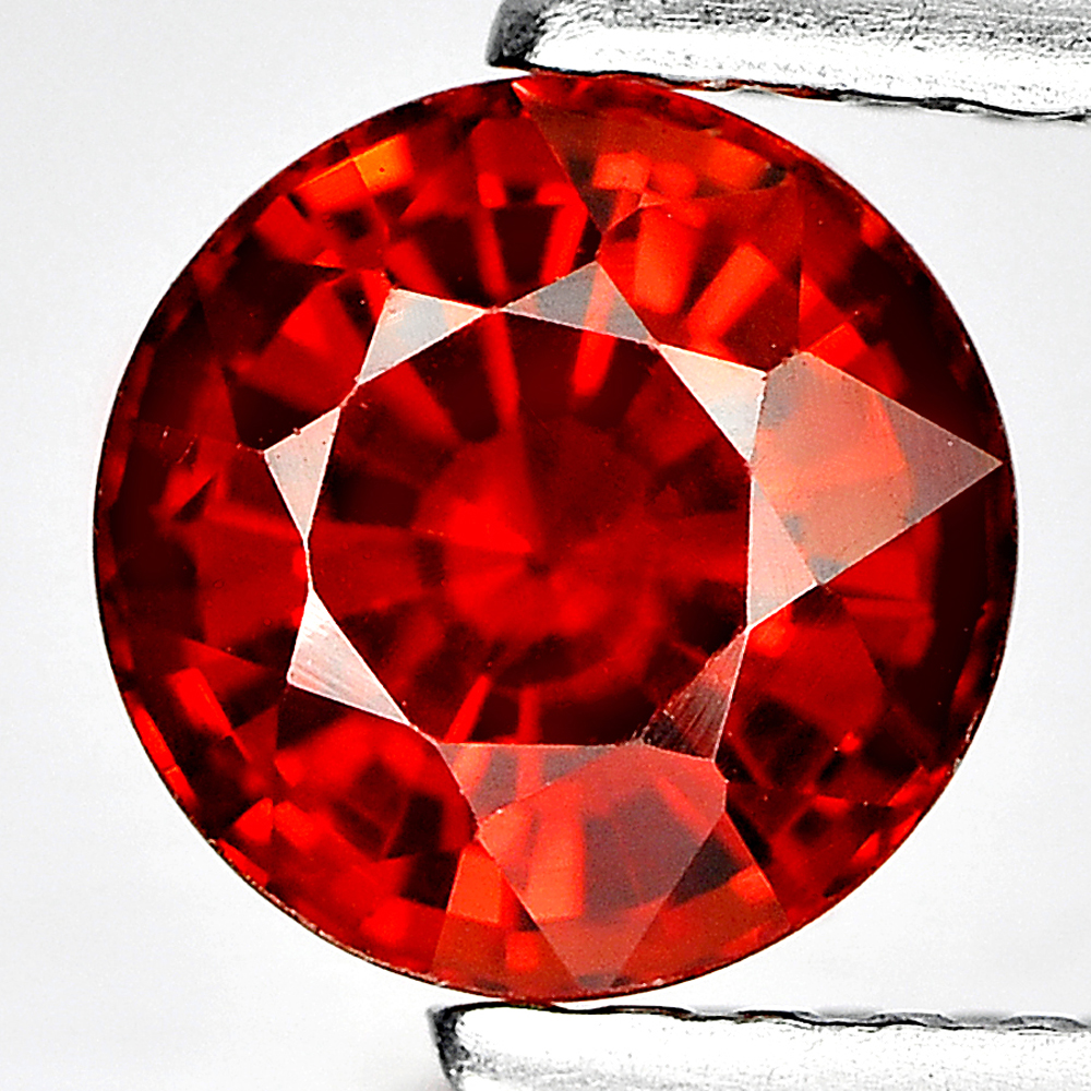 1.22 Ct. Round Shape Natural Gemstone Reddish Orange Spessartine Garnet Unheated