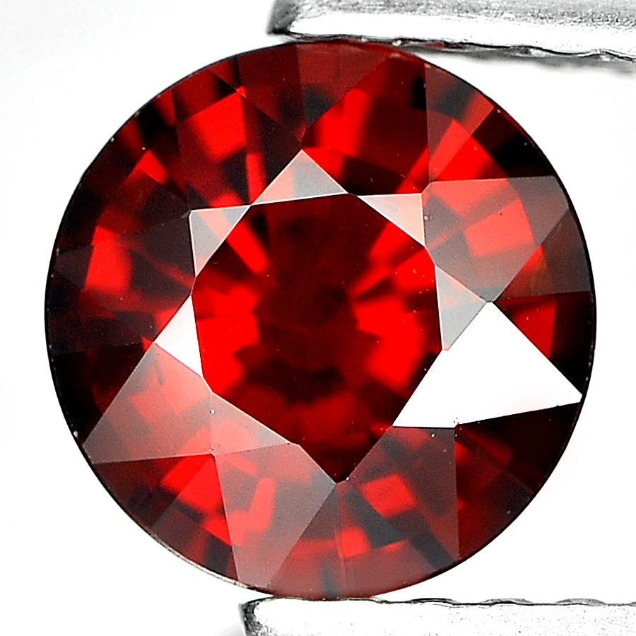 1.23 Ct. Lovely Round Shape Natural Gemstones Reddish Orange Spessartine Garnet