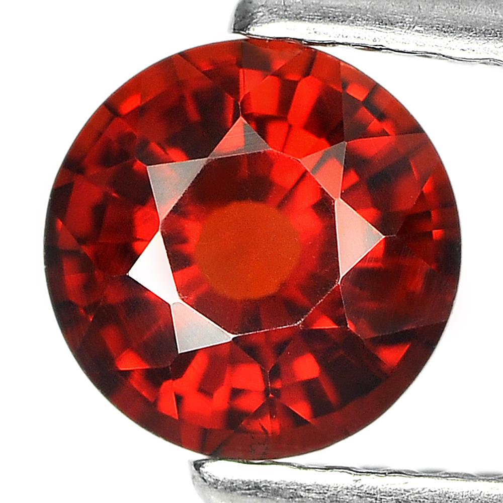 1.07 Ct. Round Shape Natural Reddish Orange Spessartine Garnet Unheated