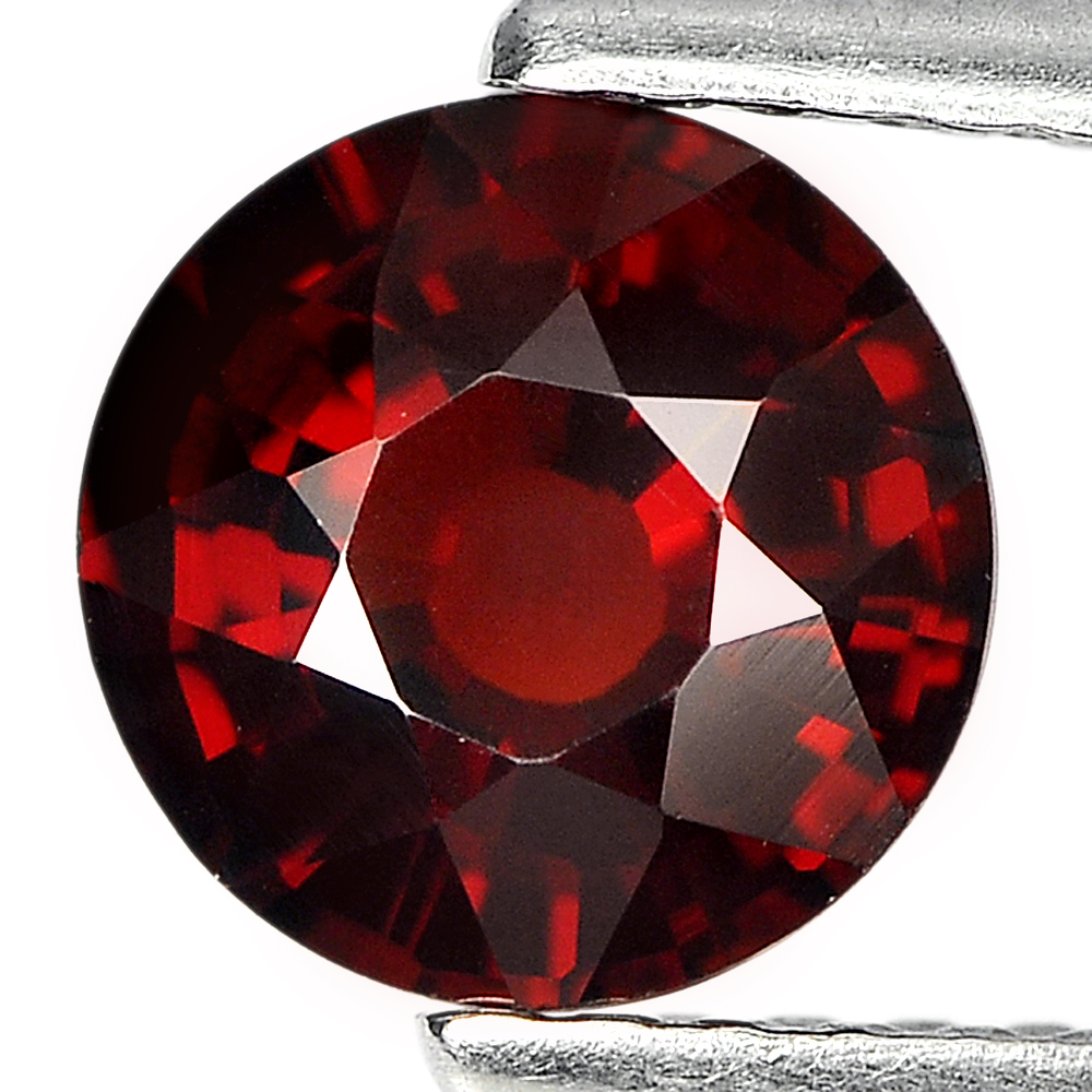 1.29 Ct. Round Shape Natural Gemstone Reddish Orange Spessartine Garnet Unheated