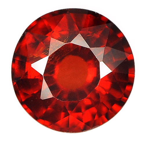 1.20 Ct. Round Shape Natural Gemstone Reddish Orange Spessartine Garnet Unheated