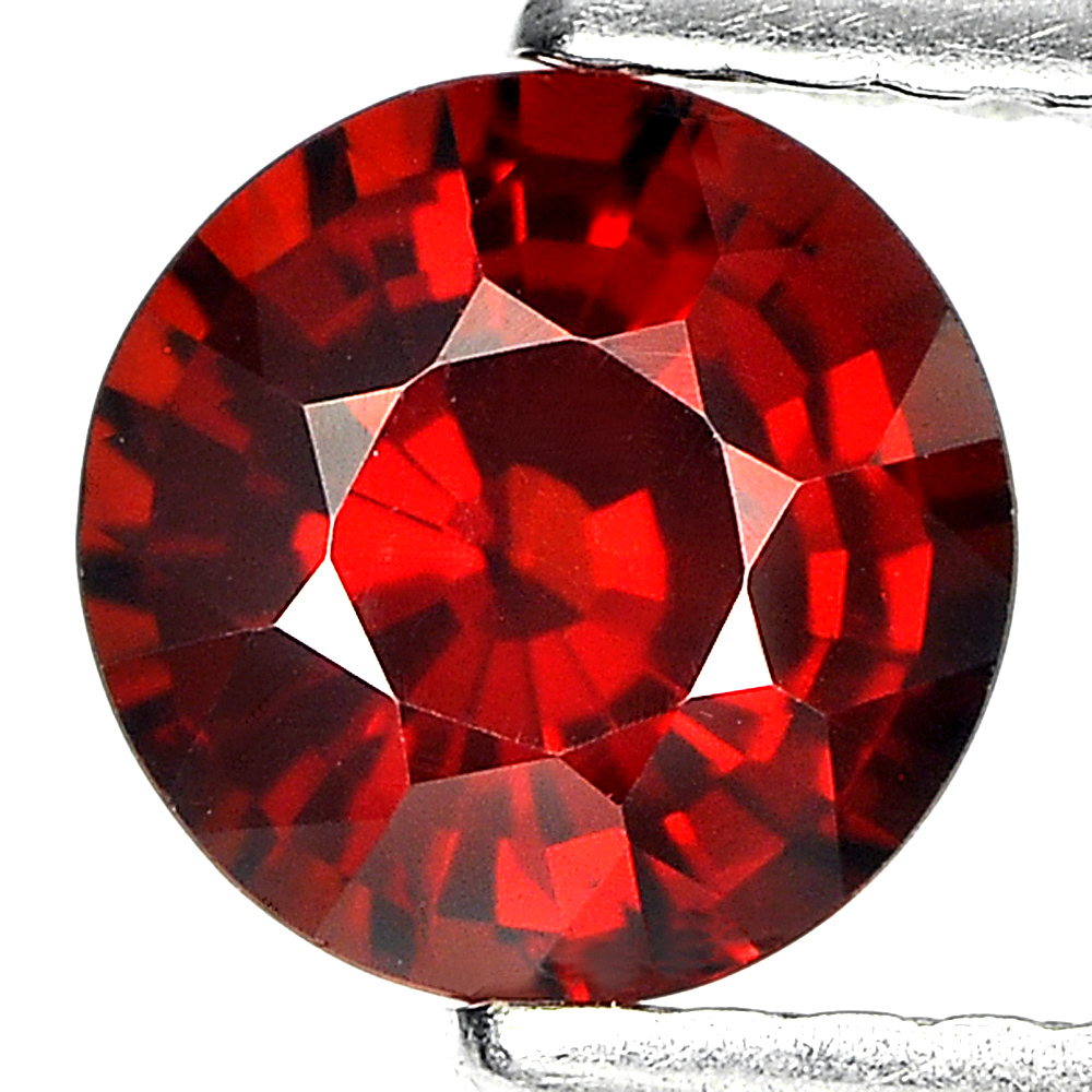 1.11 Ct. Round Shape 6 Mm Natural Gem Reddish Orange Spessartine Garnet Unheated