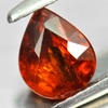 1.60 Ct. Pear Natural Reddish Orange Spessartine Garnet