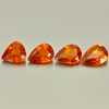 3.49 Ct. 4 Pcs. Pear Shape Natural Reddish Orange Garnet