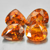 3.50 Ct. 4 Pcs. Pear Natural Orange Spessartine Garnet