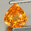 0.76 Ct. Pear Shape Gem Natural Orange Spessartine Garnet Nigeria